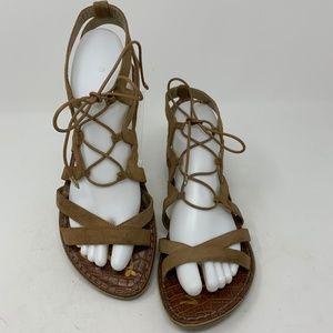 Sam Edelman, Laceup Leather Sandals Sz 9 (535)